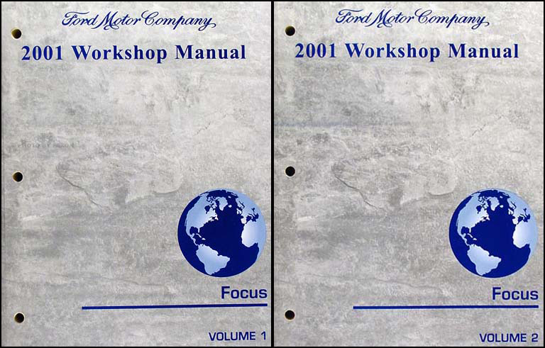 2001 ford focus repair shop manual 2 volume set workshop. Black Bedroom Furniture Sets. Home Design Ideas