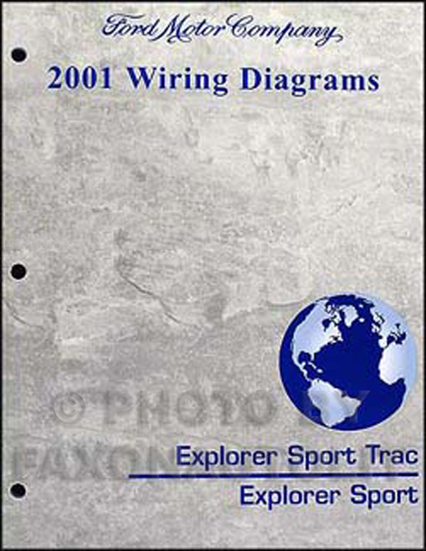 2001 Ford Explorer and Sport Trac Wiring Diagram Manual Original