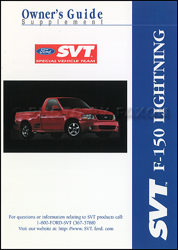 ford   svt lightning pickup truck owners manual