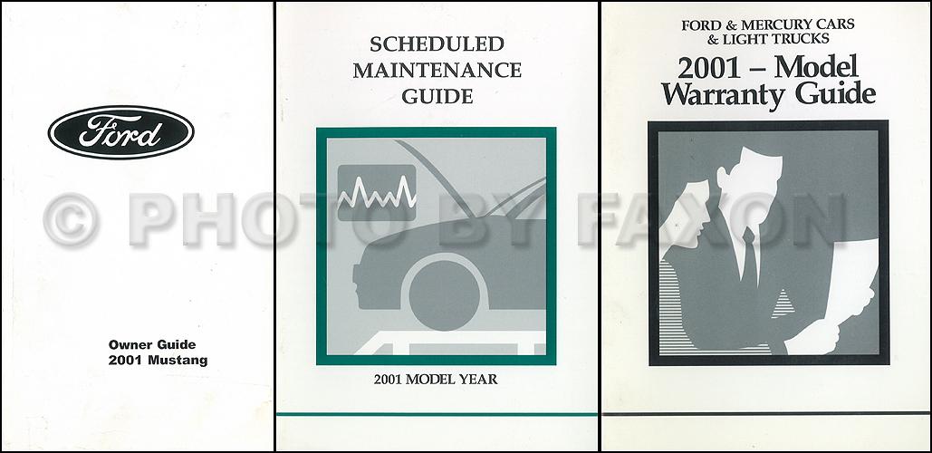2001 Ford Mustang Owner U0026 39 S Manual Factory Reprint
