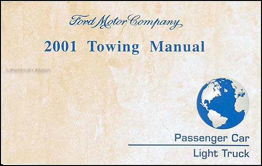 2001 Ford Lincoln Mercury Towing Manual Original
