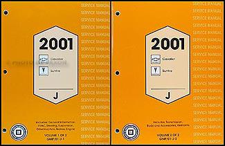 2001 chevrolet cavalier service repair manual software