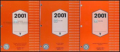 2001 Chevrolet Corvette Repair Manual Original 3 Volume Set