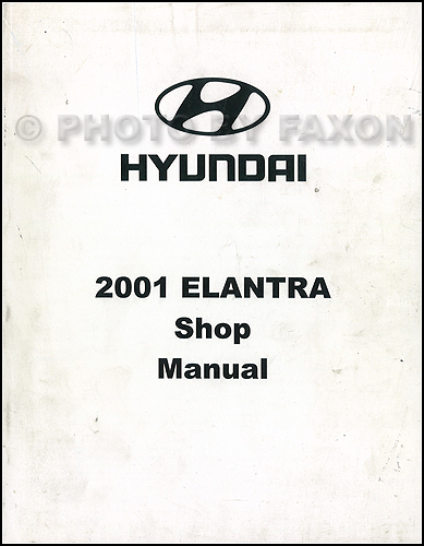 2001 Hyundai Elantra Repair Shop Manual Original