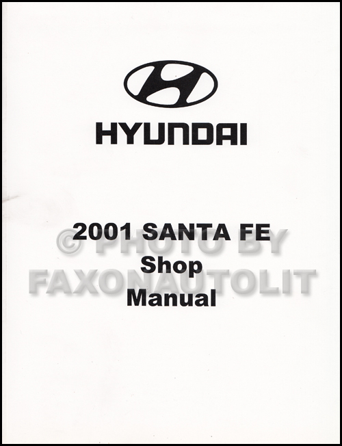 2001 hyundai santa fe shop manual repair service book gl gls lx factory