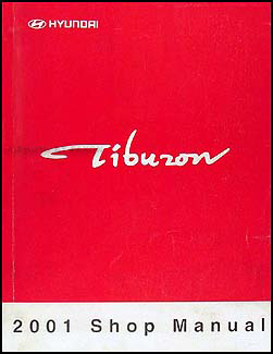 2001 Hyundai Tiburon Shop Manual Original
