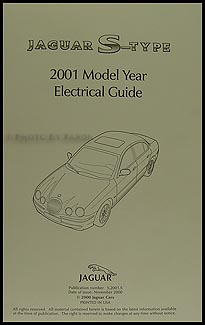 2001 Jaguar S-Type Electrical Guide Wiring Diagram