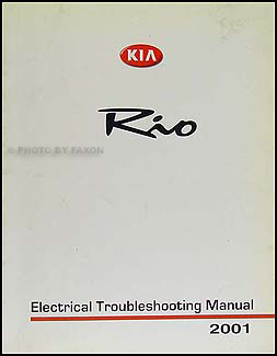 2001 Kia Rio Electrical Troubleshooting Manual Original
