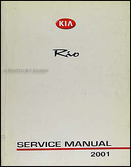 2001 Kia Rio Repair Manual Original
