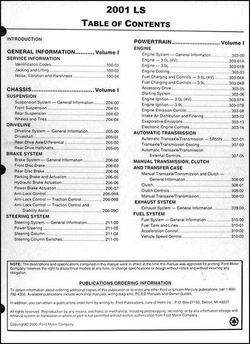 2001 lincoln ls repair shop manual 2 volume set original 2002 lincoln ls workshop manual 2000 lincoln ls workshop manual pdf
