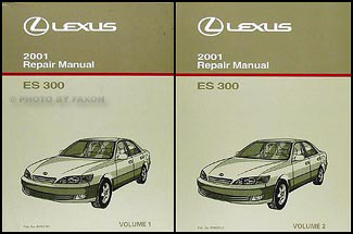 2001 lexus es 300 repair shop manual original 2 volume set rh faxonautoliterature com 1992 lexus es300 service manual 1992 lexus es300 service manual