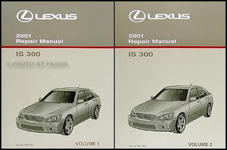 2001 Lexus Is 300 Repair Shop Manual Original 2 Volume Set border=