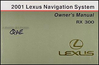 2001 lexus rx 300 wiring diagram manual original 2001 lexus rx 300 navigation system owners manual original
