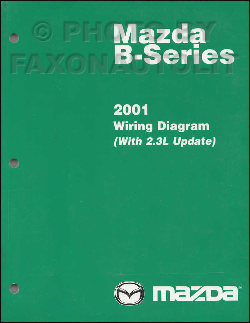 2001 mazda b-series pickup truck wiring diagram manual original b2300-b4000