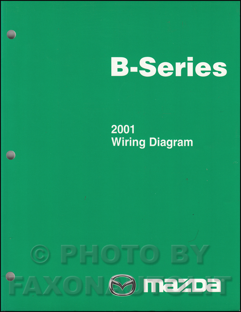 2001 Mazda B-Series Pickup Truck Wiring Diagram Manual ...
