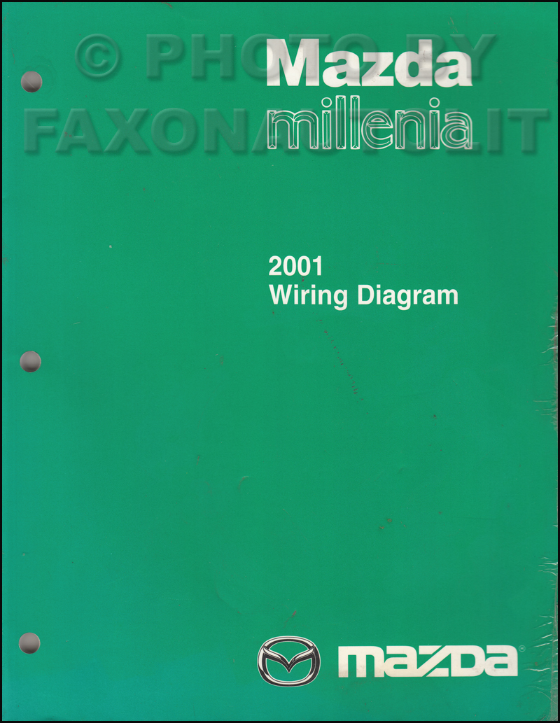 2001 mazda millenia wiring diagram manual original rh faxonautoliterature  com 2001 Mazda Millenia Alternator 2001 Mazda