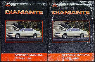 2001 mitsubishi diamante original repair shop manual 2 vol set rh faxonautoliterature com 2000 Mitsubishi Diamante 2002 Mitsubishi Diamante