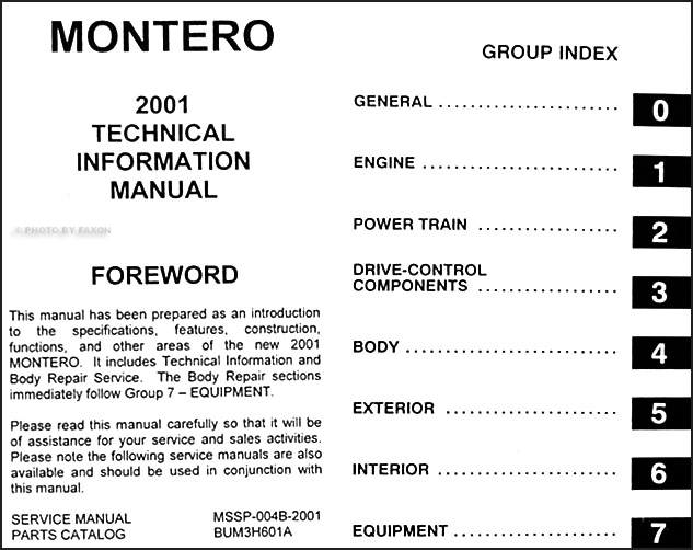Manual Mitsubishi Montero Owner Sportsman\u0027s Warehouse