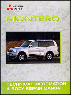 2001 mitsubishi montero body manual original rh faxonautoliterature com 1994 Mitsubishi Montero 1995 Mitsubishi Montero Interior