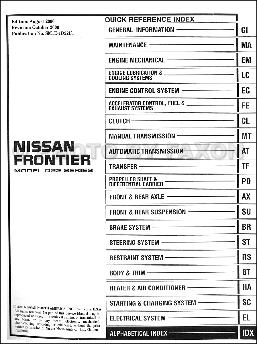 nissan frontier service and repair manual rh nissan frontier service and repair manual tem 2001 nissan xterra repair manual pdf 2001 nissan xterra service manual