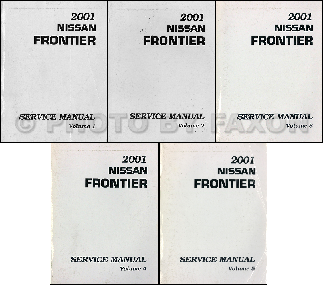 2001 nissan frontier pickup repair shop manual set original rh  faxonautoliterature com 1998 Nissan Frontier 2000 Nissan Frontier Parts  Diagram