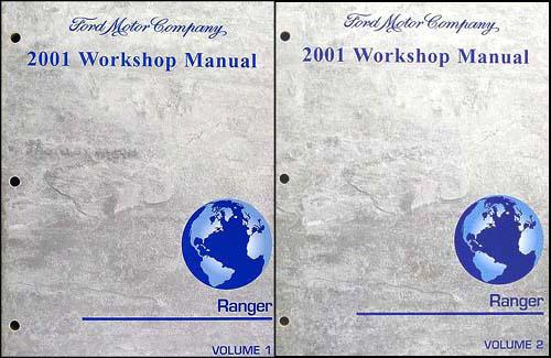 2001 Ford Ranger Repair Shop Manual Original 2 Volume Set
