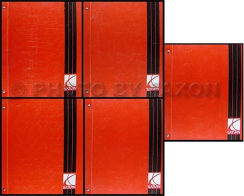 2000-2001 Saturn L-Series Repair Shop Manual Original Binder 5 Vol Set