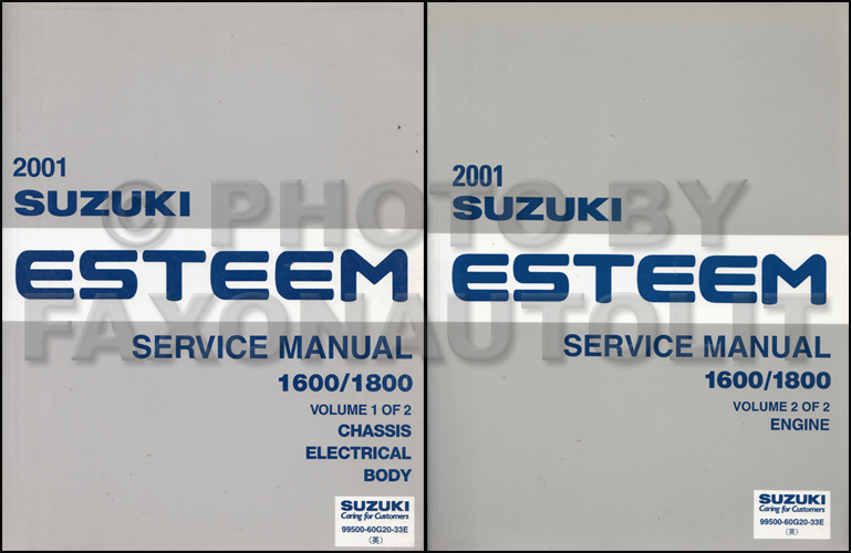 2001SuzukiEsteemORMSet 1998 2001 suzuki esteem wiring diagram manual original