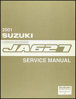2001 suzuki xl-7 ja627 repair shop manual original