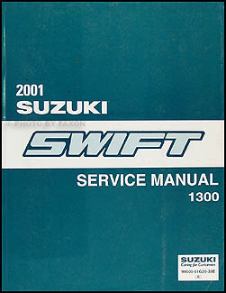 1999-2001 Suzuki Swift Wiring Diagram Manual Original