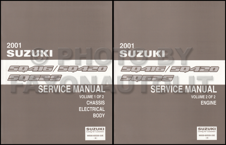 1999 2001 suzuki vitara grand vitara wiring diagram original 2001 suzuki vitara and grand vitara repair shop manual set original 169 00