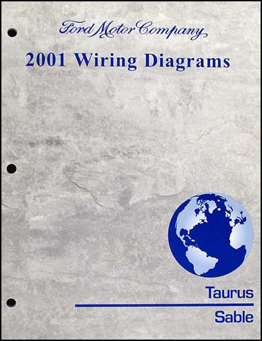 2001TaurusSableWD 2001 ford taurus & mercury sable wiring diagram manual original Ford Alternator Wiring Diagram at suagrazia.org