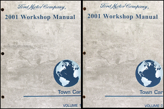 2001 Lincoln Town Car Factory Repair Shop Manual Set Original Oem Service Books