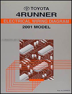 2001 toyota 4runner wiring diagram manual original rh faxonautoliterature com 2001 Toyota Wiring Harness Diagram 2001 toyota 4runner spark plug wire diagram
