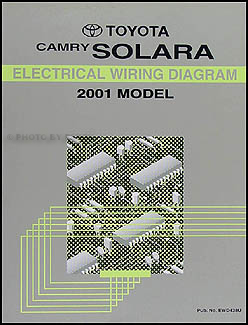 2001 Toyota Camry Solara Wiring Diagram Manual Original