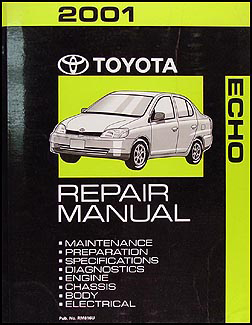2001 toyota echo repair shop manual original rh faxonautoliterature com echo service manual pdf echo show manual pdf