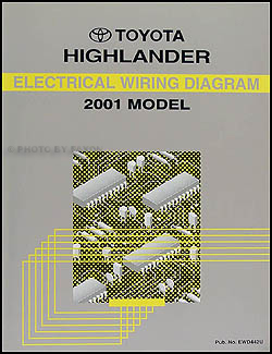 2001 toyota highlander wiring diagram manual original rh faxonautoliterature com