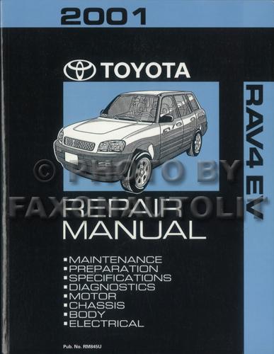 2001 toyota rav4 ev repair shop manual original rh faxonautoliterature com 2014 Toyota RAV4 2010 Toyota RAV4