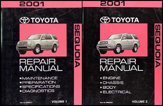 2001 toyota sequoia wiring diagram manual original 2001 toyota sequoia repair shop manual original set 154 00