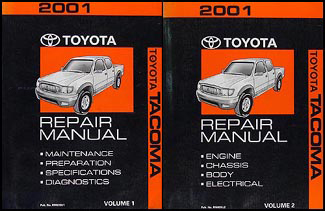 2001 toyota tacoma repair shop manual original set rh faxonautoliterature com Toyota Tacoma Repair 2005 Toyota Tacoma Wiring Diagram