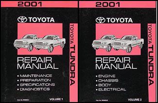 2001 toyota tundra repair shop manual original 2 volume set rh faxonautoliterature com Toyota Tundra Towing Toyota Tundra Running Boards