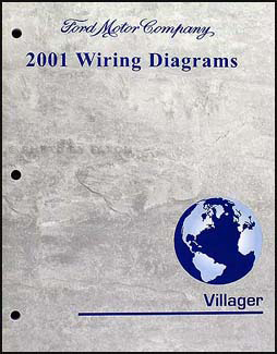2001 mercury villager wiring diagram manual original