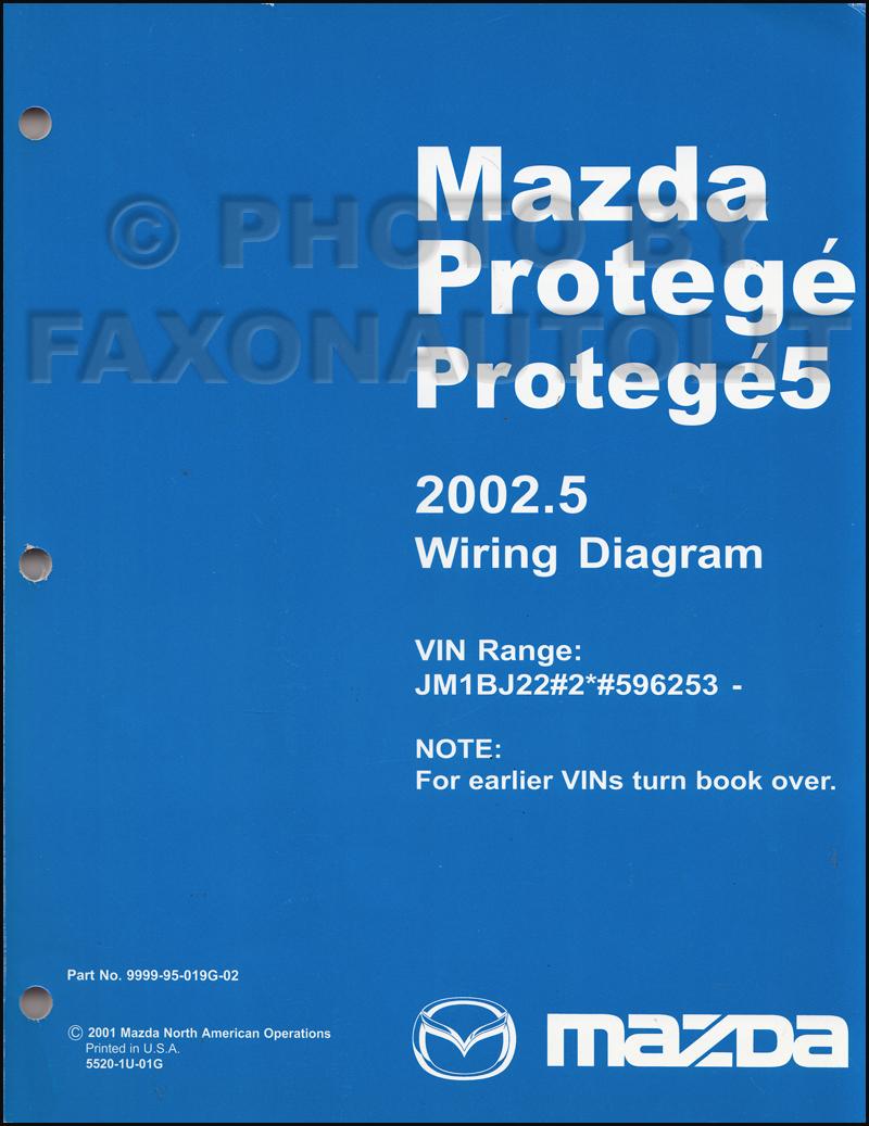 200220025 Mazda    Protege       Wiring       Diagram       Manual    Original