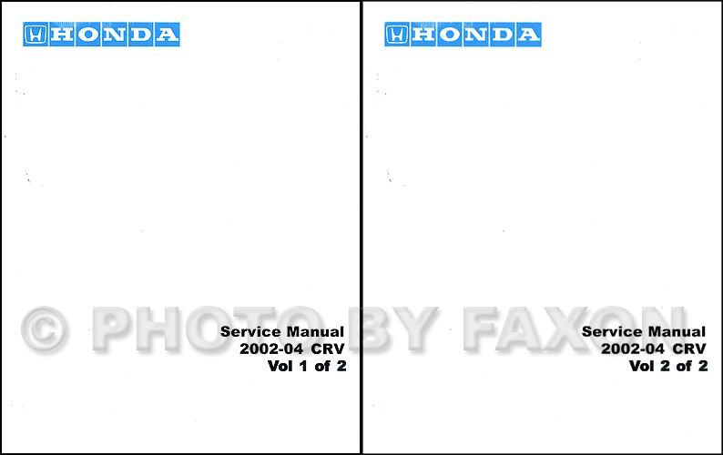 20022004 Honda CRV Electrical Troubleshooting Manual Original