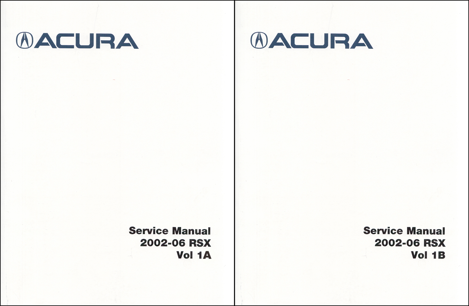 2002-2006 Acura RSX Shop Manual Original