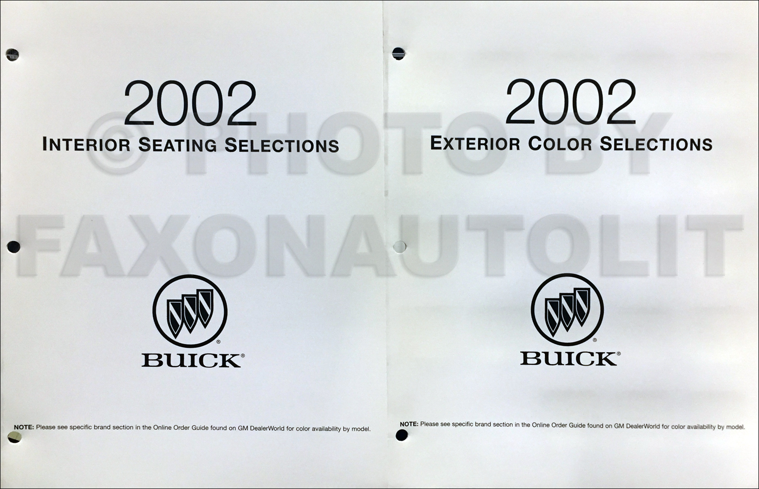 2002 Buick Park Avenue Repair Shop Manual Original 2 Volume Set