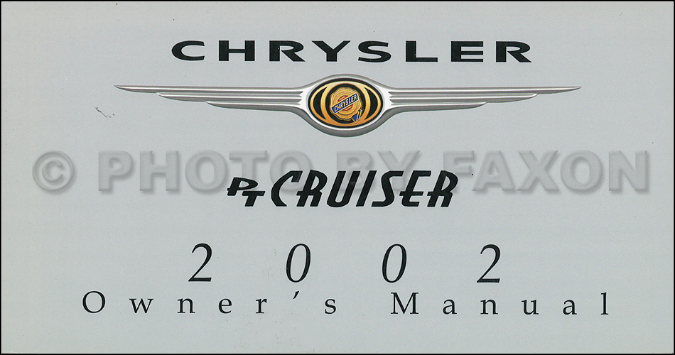 2002 Chrysler PT Cruiser Owners Manual Chrysler
