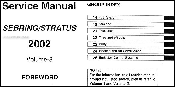 2016 Sebring Coupe Repair Manual