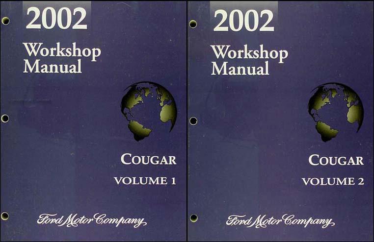 2002 mercury cougar repair shop manual original 2 volume set rh faxonautoliterature com 1999 Mercury Cougar Codes eBay Motors 2001 Mercury Cougar