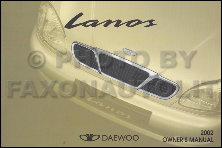 2002 daewoo lanos owner 39 s manual original. Black Bedroom Furniture Sets. Home Design Ideas